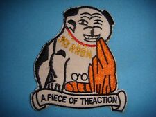 """VIETNAM WAR PATCH, US 313th RADIO RESEARCH BATTALION """"A PIECE OF THE ACTION"""""""
