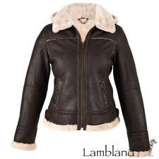 Manteaux et vestes marron en cuir pour femme