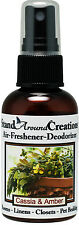 Premium Concentrated Air Freshener - 2oz- Cassia And Amber / Room Deodorizer