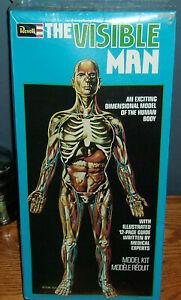 VINTAGE REVELL H-900 THE VISIBLE MAN HUMAN BODY MODEL KIT 1977 - NOS,  SEALED