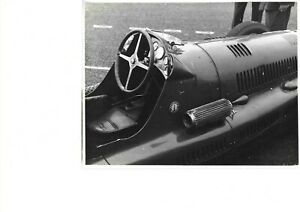 PHOTOGRAPHS MASERATI 4CL-1500 Chassis No 1579 [Cockpit Scene ] LOUIS CHIRON