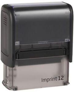 Stempel - Adresse - Automatik  Firma Imprint 12  - 47x18mm - bis 5 Zeilen