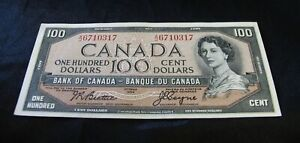 1954   One Hundred Dollar Bank Note  -  $100.00  -   Almost  Uncirculated