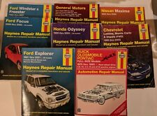 Lot 8 Haynes Automotive Repair Manuals Ford Chevrolet Honda Nissan