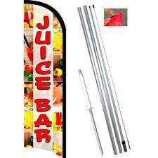 Juice Bar Premium Windless-Style Feather Flag Bundle 14' OR Replacement Flag Onl