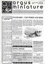 revue automobile: Argus de la Miniature. N°39 Oct 1981