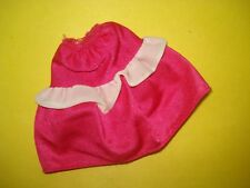Vtg Barbie 80s Tagged Doll Clothes Frilly Pink Skirt Genuine Label #2