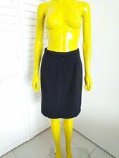 MAX MARA 100% Pure Lana Virgin Wool Black Skirt Size US 4 IT 38 Unworn! Retail $
