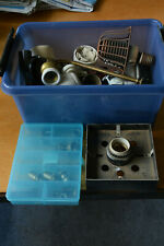 vintage bakelite switches brass ceramique fittings and other electric material