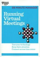 NEW Running Virtual Meetings - 20 Minute Manager - Harvard Business Review Book