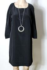 MANGO Kleid Gr. S schwarz knielang Party 3/4-Arm-Kleid