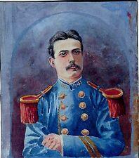 Sup. portrait d'un jeune militaire, XIXème siècle, aquarelle ; très bon état