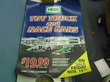 Hess Truck Store Display Poster Sheet Plastic 2003Hess Toy Truck Race Cars 41x54