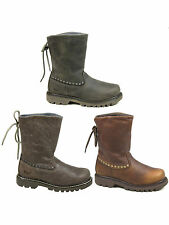 WOMENS CATERPILLAR CAT BRUISER SCRUNCH LEATHER ANKLE BOOTS SIZES 3 - 8 RRP £150