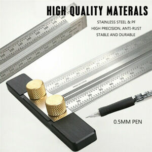 Ultra Precision Marking Ruler T Type Square Wood Working Scriber Measuring Tools