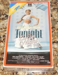 VHS Tonight Every Night Rita Hayworth Shelley Winters Janet Blair SEALED NEW