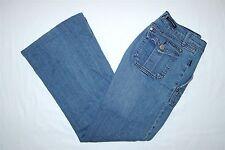Womens Rock & Republic Flare Jeans SIze 30 W31 L29 Low Rise Light Fade Stretch