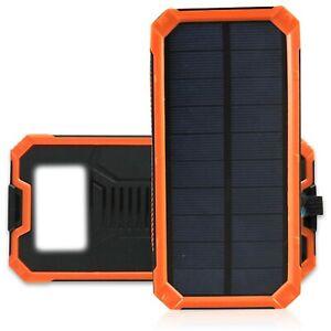Mazerly Portable Solar Power Bank – 20000mAh Waterproof External Battery Backup