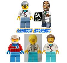 Lego Medical Minifigures - City Doctor Nurse Paramedic Pilot Hibbert FREE POST
