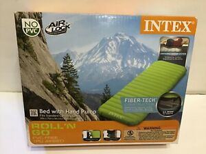 Intex Roll n Go Inflatable Travel Bed with Hand Pump