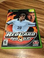 """Red Card 2003 """"20-03"""", Case & Game, TESTED  (Microsoft Xbox, 2002)"""