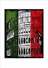 Italien matures drapeau plaque en métal style vintage de l'italie signe Rome