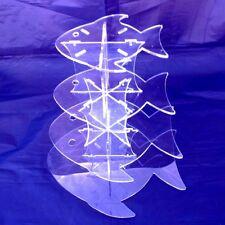 Acrílico Transparente Con Cuatro Niveles Diseño De Peces