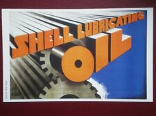 POSTCARD  SHELL POSTER - SHELL LUBRICATING OIL