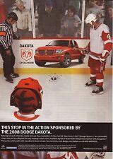 Dodge Dakota--Hockey--2008 Magazine Advertisement