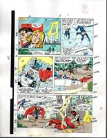 Marvel Avengers 301 color guide art page 8: Captain America/Thor/Fantastic Four