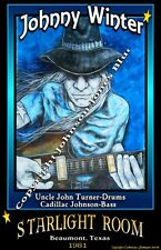 Johnny Winter Poster by Cadillac Johnson