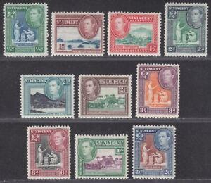 St Vincent 1938-47 King George VI Part Set to 2sh6d Mint