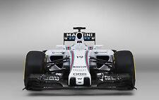 Incorniciato stampa-Williams Martini fw37 F1 Auto Da Corsa vista anteriore (formula one ART)