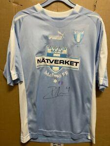Signed Zlatan Ibrahimovic Malmo FF Rare shirt with Coa