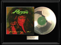 POISON OPEN UP AND SAY AHH WHITE GOLD SILVER PLATINUM TONE RECORD LP ALBUM RARE