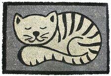 CAT Zerbino 60cm x 40cm ~ naturale di cocco Gatto Porta Tappetino Grigio
