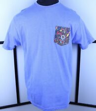 Where's Waldo Blue S/S Premium Shirt Size Large Front Graphic Pocket Classic