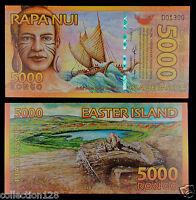 10000 10,000 Polymer Rongo Easter Island New 2013 2014 UNC /> Beautiful