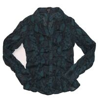 Express Women's Size Small Long Sleeve Snake Print Blouse Long Sleeve
