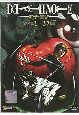 DVD Death Note 死亡笔记 Chapter 1 - 37 End (English Dub & Sub)