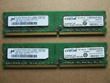 Crucial 2 x 2GB Pair - 4GB Total PC2-5300U DDR2-667 Desktop PC Memory 667MHz
