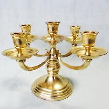 Mächtiger, alter Kerzenständer aus massivem Messing mit schraubbaren Haltern