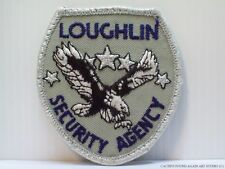 Loughlin Security Agency Vintage Patch Insignia Logo Shield Shaped