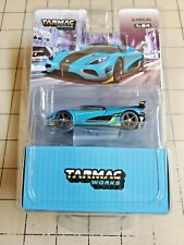 Tarmac Works 1/64 Koenigsegg Agera RS Blue With Container NEW