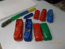 12 Piece Vintage Hard Plastic 3 Cars, 2 Pickup Trucks, 2 Fire Trucks, 5 pc Train