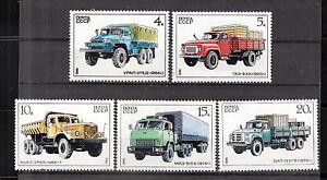 Russia 1986 Domestic Trucks MNH (SC# 5490-5494)