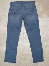 Kasil Benatar Skinny Crop Jeans Sz 26 Low Waist w Stretch Steel Blue