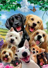 """Yorkie Chihuahua Dachshund Pug Lab Retriever Dog Selfie House Flag 40"""" x 28"""""""