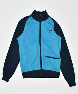 UMBRO Mens Tracksuit Top Jacket Small Blue Polyester Sports LC03