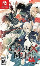 Collar X Malice (Nintendo Switch, 2016) Brand New - Region Free